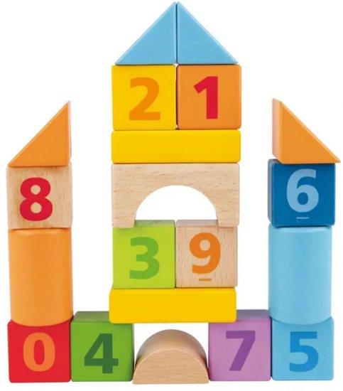 סט משחק 20 קוביות עץ עם מספרים HAPE