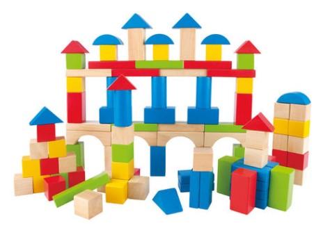 סט משחק 101 קוביות עץ HAPE