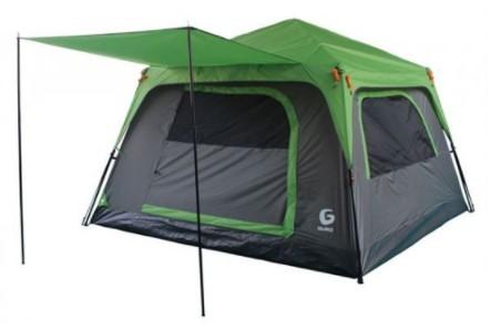• אוהל עשוי שכבה אחת של בד פוליאסטר דוחה ואוטם מים 190T Polyester 1000mm • ריצפת אמבטיה מחוזקת עמידה לשחיקה PE 120G (פוליאסטר). • מוטות פייברגלס מחוזקים • דלת קדמית: רוכסן + רשת הגנה מיתושים, אפשרות לפתיחה וסגירה מבפנים. • 4 חלונות פנורמיים פתיחה פנימית +
