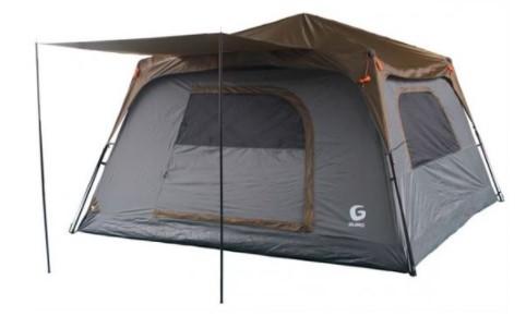 אוהל פתיחה מהירה ל-8 אנשים Guro Panorama V2 - אפור/חום