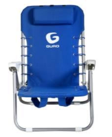 כיסא חוף מתקפל פלדה - כחול