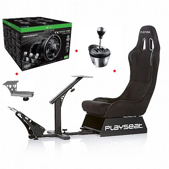 ערכת נהיגה למתקדמים - מושב PlaySeat+ הגה TX Leather+ידית הילוכים ומעמד