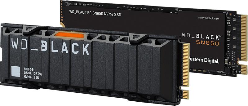 כונן WD_BLACK ™ SN850 NVMe ™ SSD בנפח 500 GB