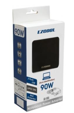 ספק כח אוניברסלי למחשבים ניידים עם חיבורי EZCool 90W AD-805 USB