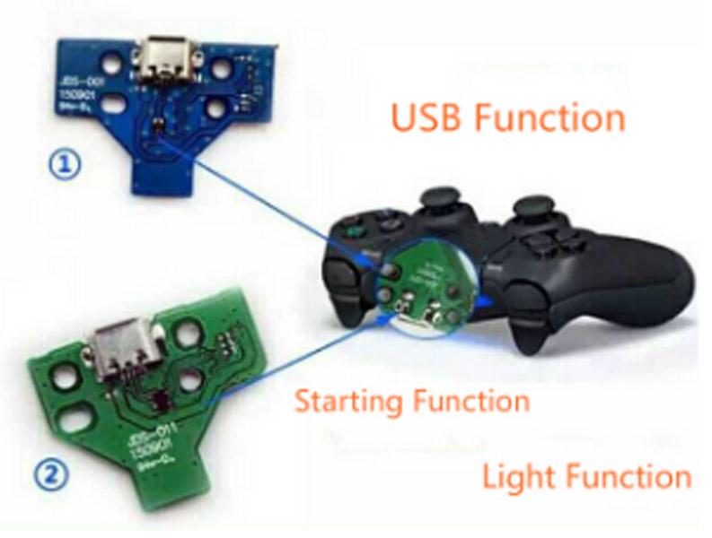 החלפת שקע טעינה לשלט PS4