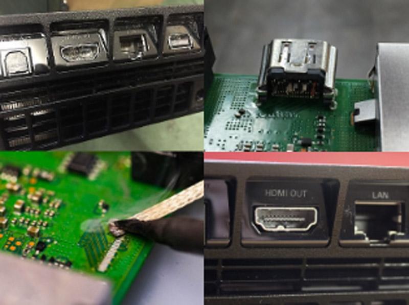 החלפת יציאת HDMI ל PS4