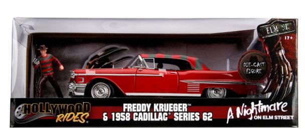 Jada Toys USA  Freddy Krueger & 1958 Cadillac Series 62