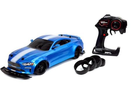 מכונית שלט דריפטים 1:10 פורד מוסטנג כחולה (32140) Jada מהיר ועצבני