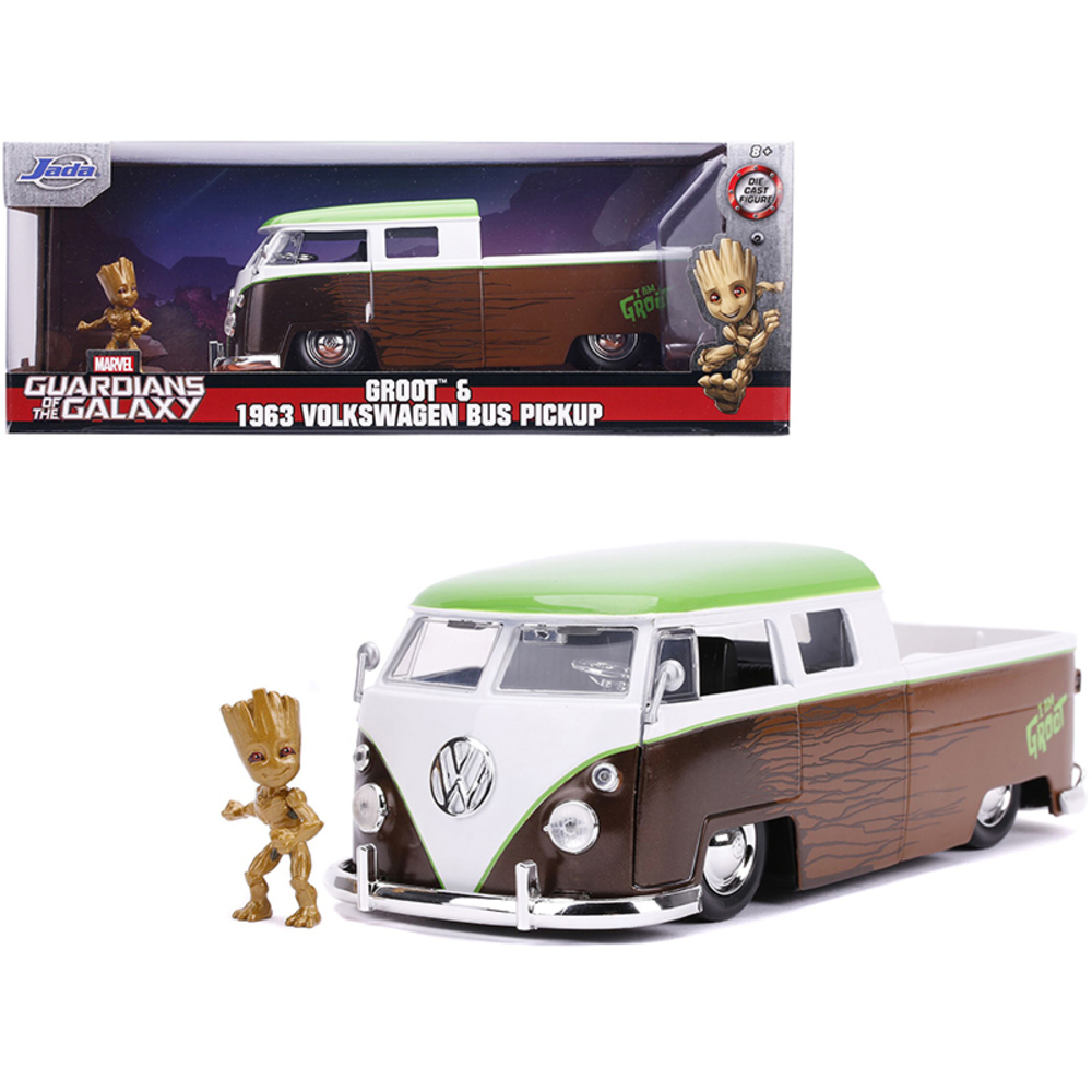 Jada Toys USA   Groot & 1963 Volkswagen Pickup Bus