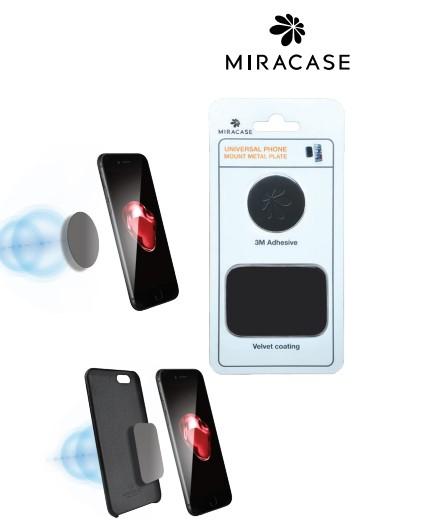 פלטה מטאלית אוניברסלית למתקן תליה ברכב Miracase M2P