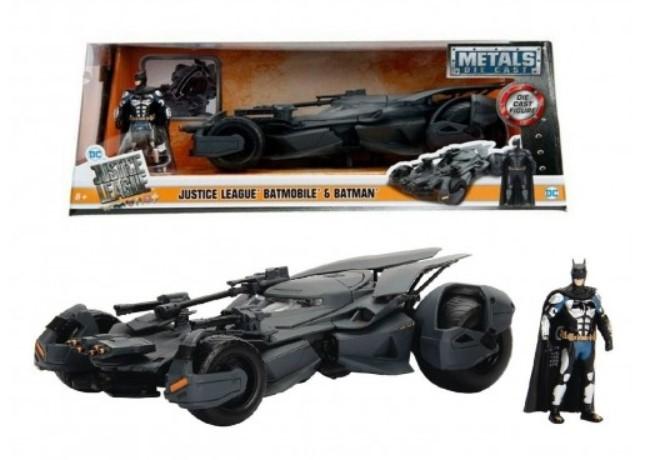מכונית באטמוביל Jada Toys Hollywood Rides - Batmobile And Batman Justice League Metal Die Casm