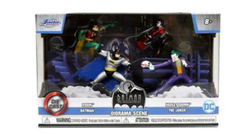 """BATMAN: THE ANIMATED SERIES"" SET OF 4 FIGURES ""NANO HOLLYWOOD RIDES"" JADA 31353"