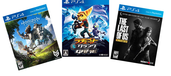 Horizon Zero Dawn + Ratchet & Clank + The Last of Us Remastered