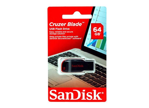 דיסק און קי SanDisk Cruzer Blade 64GB סנדיסק